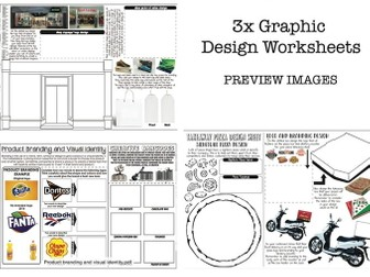 Graphic Design Worksheets - Set of 3