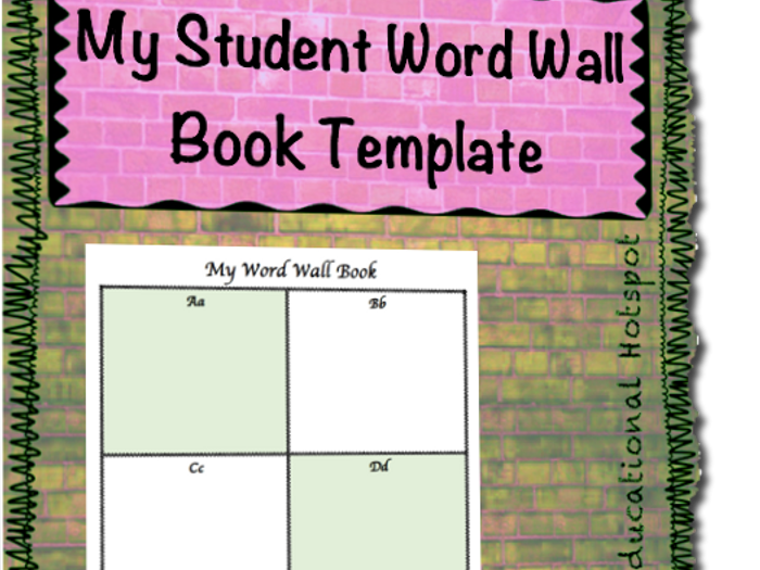 personal word wall template