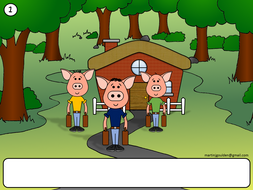 Three Little Pigs Story Blank Text Boxes - Traditional Tales