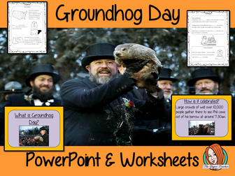 Groundhog Day PowerPoint and Worksheets