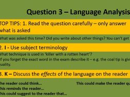 AQA English Language Paper 2 - DIRT lesson with marking codes