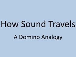 How Sound Travels + Sound in Space - A Dominoes Analogy - VIDEO