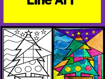 Christmas Tree Line Art