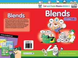Cut and Paste Phonics US Book 2: Blends for Grades 1 and 2 (66 pages)