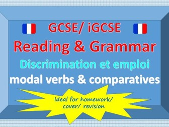 Reading and grammar - Discrimination et l'emploi - modal verbs and comparatives