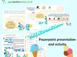 Alliteration Ice Cream Parlour Powerpoint and Activity KS1