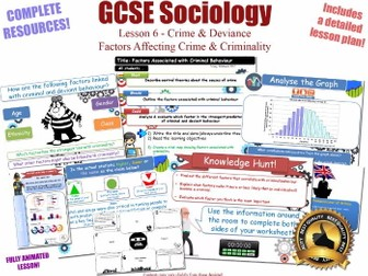 Factors Affecting Crime & Criminality- Crime & Deviance L6/20 [ AQA GCSE Sociology - 8192] New Spec