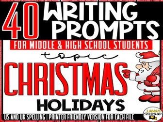 Daily Writing Prompts | Christmas holidays | Middle and High School