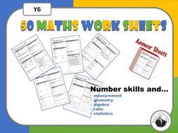 Maths  Weekly Worksheets Y6.