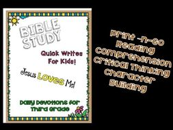 Daily Devotions: Bible Study Quick Writes for Third Grade