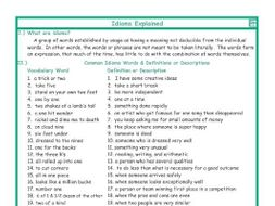 Idioms Explanation-Definitions