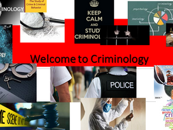 Criminology -NEW SPEC Level 3- A Quick Short and Sweet PP for Open Day