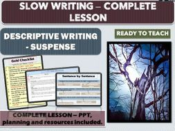 SLOW WRITING - SUSPENSE WRITING - COMPLETE LESSON