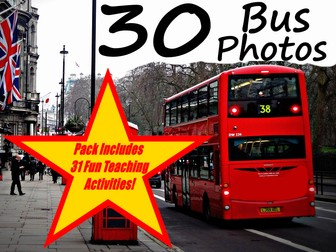 30 Bus Photos From Around The World PowerPoint Presentation + 31 Fun Teaching Activities