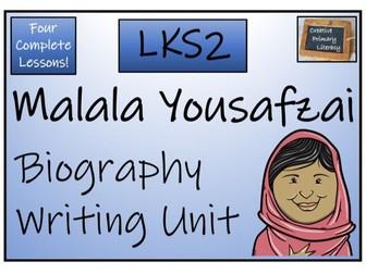 LKS2 Malala Yousafzai Biography Writing Activity