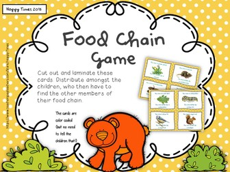 Science FOOD CHAIN / PREDATOR PREY Game Activity