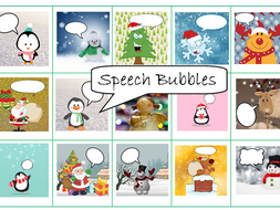 15 Christmas Cards to Make with Speech Bubbles