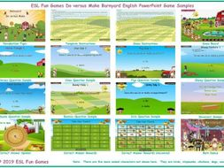 Do versus Make Barnyard English PowerPoint Game
