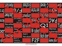Slang at Work #1 Checker Board Game
