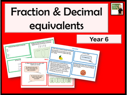 Maths Calculate decimal fraction equivalents Year 6