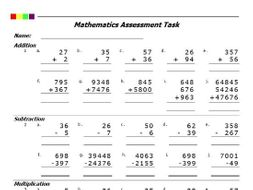 addition subtraction multiplication division pdf by proresources  addition subtraction multiplication division pdf by proresources   teaching resources  tes