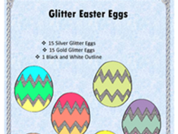 Glitter Easter Eggs Clipart Bilingual Stars Mrs. Partida Clips