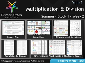 YEAR 1 - Multiplication & Division - White Rose - WEEK 2 - Block 1 - Summer- Differentiated Pack