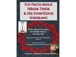 Fun Facts about Nikola Tesla - Internet Scavenger Hunt