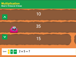 2 5 And 10 Times Tables Up To 10x Interactive Game Ks1 Number