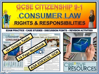 Consumer Rights and Responsibilities Work booklet WB