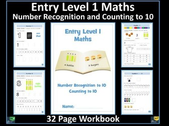 Entry Level 1 Maths - Number Recognition - Counting to 10