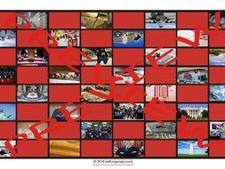 United States Government and Citizenship Checker Board Game