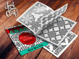 45 coloring pages | Pattern Crazy: Mecanical Mayhem - Printable Adult Coloring Book PDF
