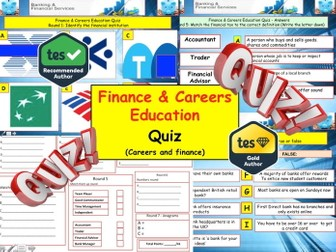 2017 - Finance & Careers Quiz  (Financial education) - 7 rounds and 40+Qs' End of Term Quiz
