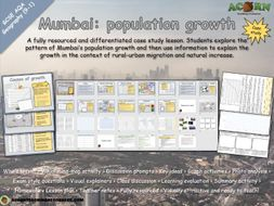 Urban issues and challenges - Mumbai (population growth)