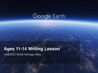Google Earth Education Writing Lesson: UNESCO World Heritage Sites #GoogleEarth