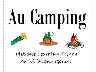 Au Camping Distance Learning French Activities and Games.