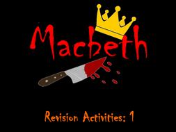 AQA English Literature Macbeth Revision Activity 1