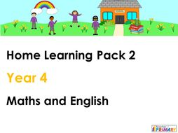 Year 4 Home Learning Pack 2 - Maths and English