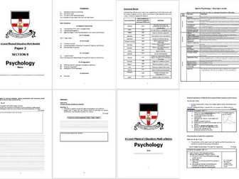 A Level PE- 2016 Spec- Psychology and skill acquisition