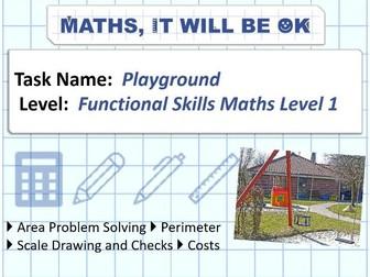FS Maths Level 1 Scale - Playground - Exam Style