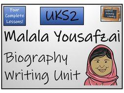 UKS2 - Malala Yousafzai Biography Writing Activity