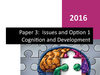 Paper 3 -Complete Student Workbook - Cognition and Development