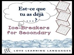 GCSE FRENCH: French Passé Composé Ice-Breaker Activity: Est-ce que tu as déjà…?