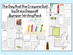 The Day the Crayons Quit -BUMPER PACK-COMPLETE WRITING SET