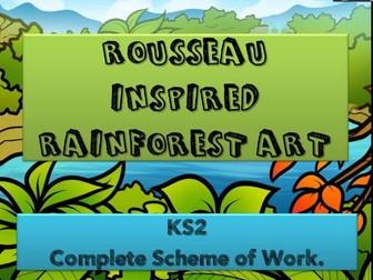 Rainforest Art  - 6 lesson scheme of work.