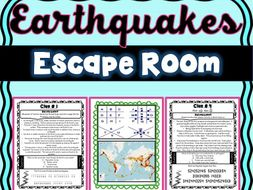 Earthquake Escape Room! Natural Disasters - Earth Science - NO PREP, PRINT & GO!