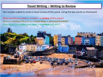 Travel Writing - Creating A Review