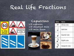 Real life fractions