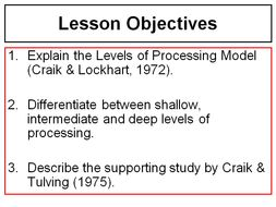 craik and lockhart study